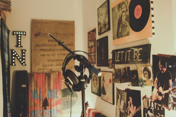 Music fan's room
